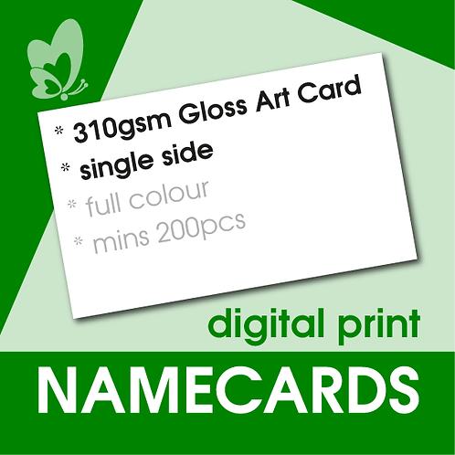 Digital Print Name Cards - 310gsm Gloss Art Card (Single Side)