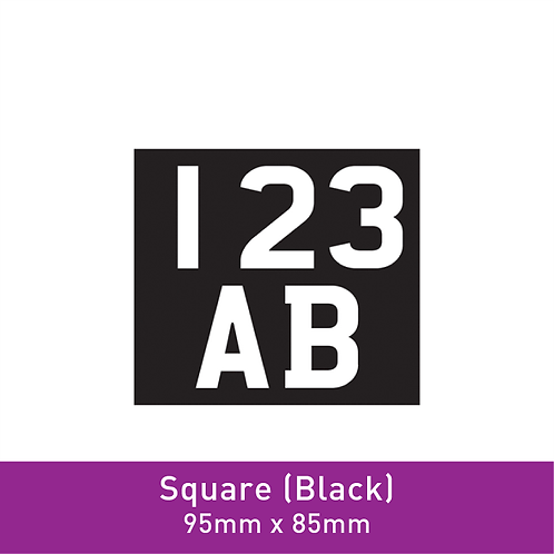 E-Scooter Label (Square Black)