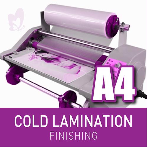 FINISHING - COLD LAMINATION (A4)