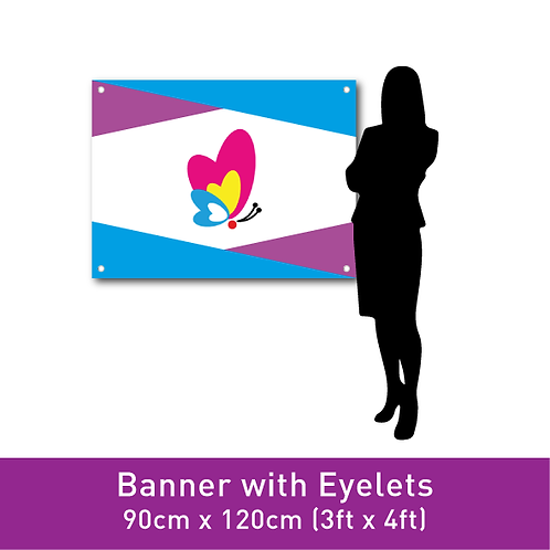FINE PVC Banner (with Eyelets) - 90cm x 120cm (3ft x 4ft)