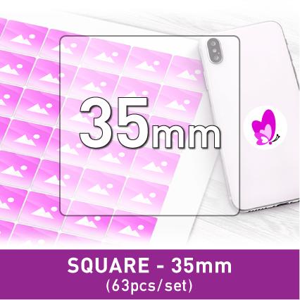 Label Sticker - Square 35mm (63pcs)