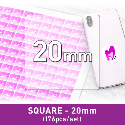 Label Sticker - Square 20mm (176pcs)
