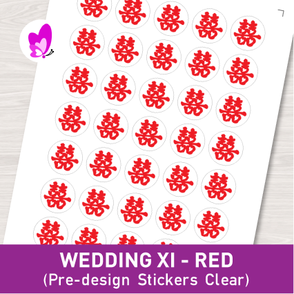 WEDDING XI (RED) LABELS
