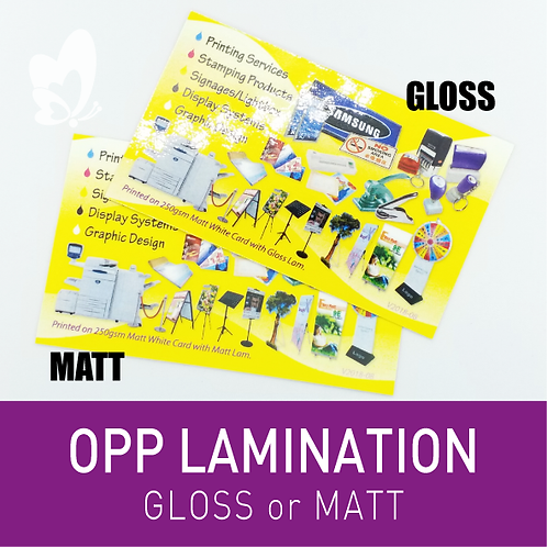 Finishing - OPP Lamination (per 100pcs)