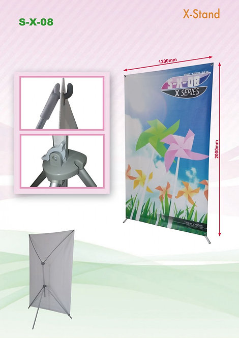 X-Stand : S-X-08 (1200mm x 2000mm)