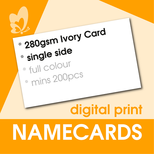Digital Print Name Cards - 280gsm Ivory Card (Single Side)