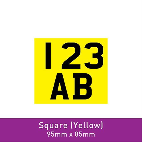 E-Scooter Label (Square Yellow)