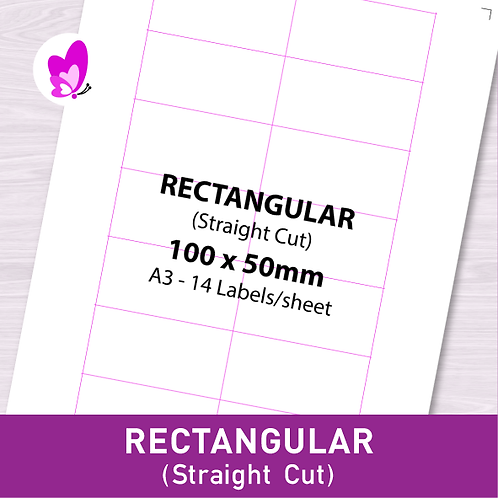 Label Sticker - RSC 100mm x 50mm (14pcs/set A3)