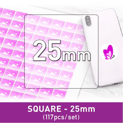 Label Sticker - Square 25mm (117pcs)