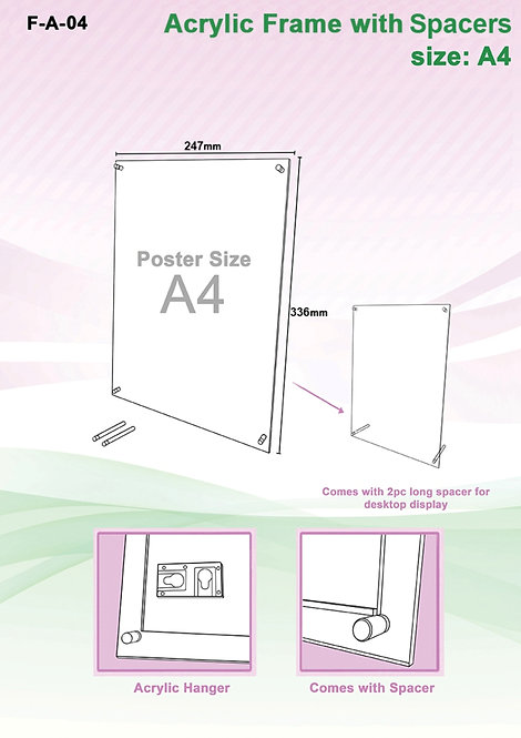Acrylic Frame (Sandwich) A4