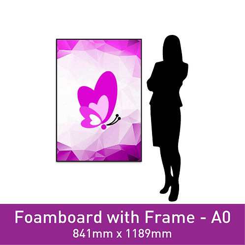 Foam Board with Frame - A0