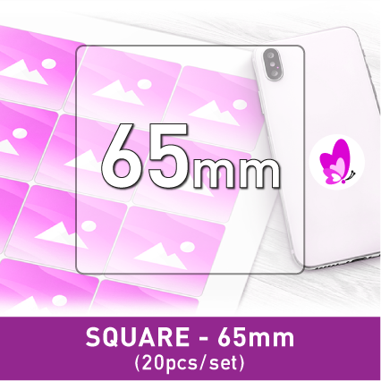 Label Sticker - Square 65mm (20pcs)