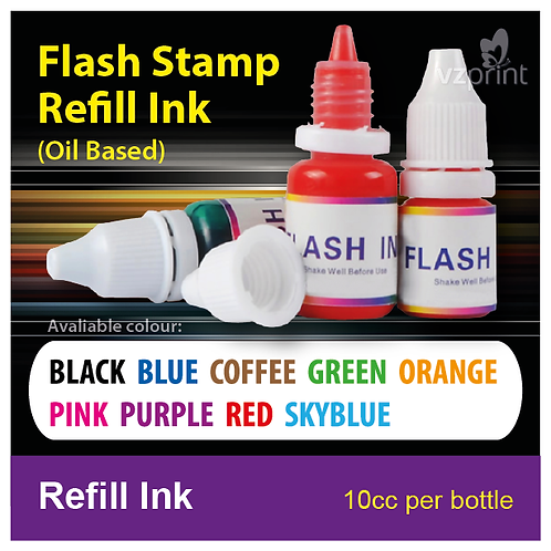 Refill Ink for Flash Stamp (9 Colours)