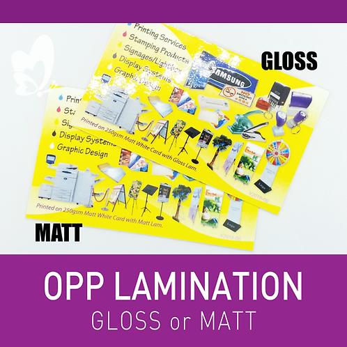 OPP Lamination