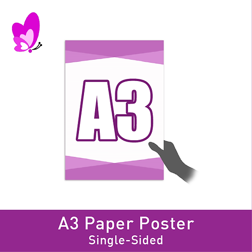 Digital Print Poster - A3 Single-Sided