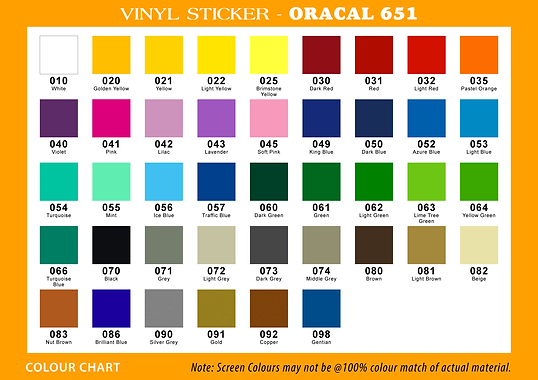 Oracle 651-Color Chart.png