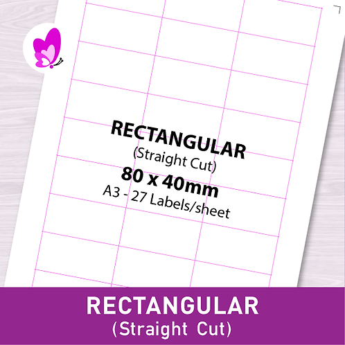 Label Sticker - RSC 80mm x 40mm (27pcs/set A3)