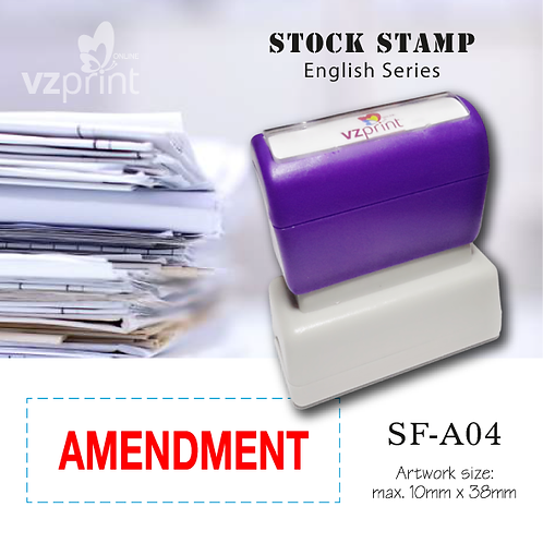 Stock Stamp SF-A04
