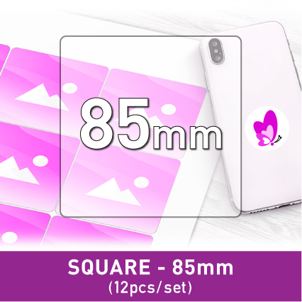 Label Sticker - Square 85mm (12pcs/set A3)