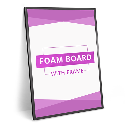 Foam Board with Frame - A4
