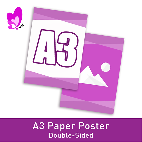 Digital Print Poster - A3 Double-Sided