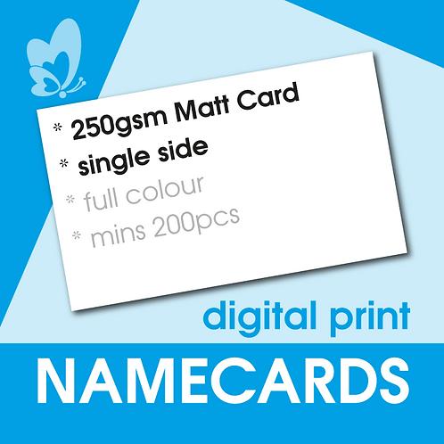 Digital Print Name Cards - 250gsm Matt Card (Single Side)