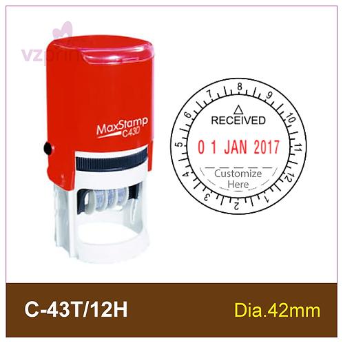 MAX Dater Stamp C-43T/12H