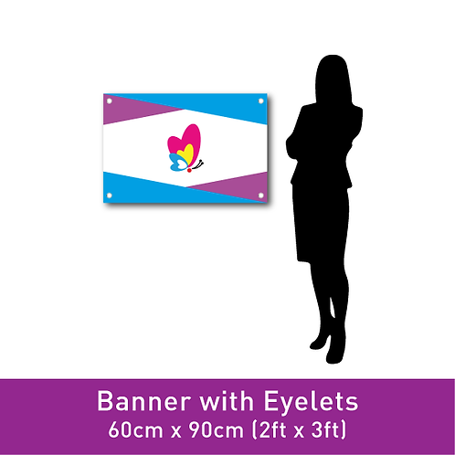 Banner Print (with Eyelets) - 60cm x 90cm (2ft x 3ft)