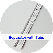 Finsihing Options (Separator with Tabs).