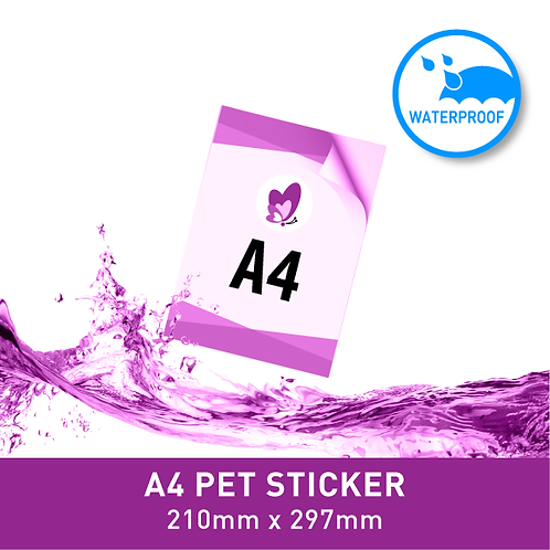 Sticker Poster - A4 PET