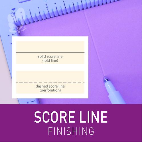 Score Line for Cards (per 100pcs)