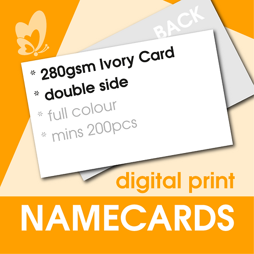 Digital Print Name Cards - 280gsm Ivory Card (Double Side)
