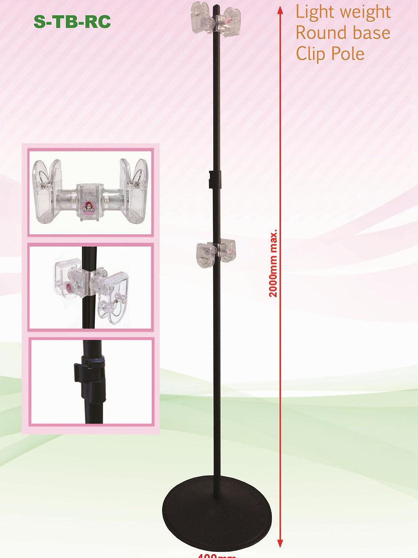 Clip Pole - Round Base (with BONI clip)