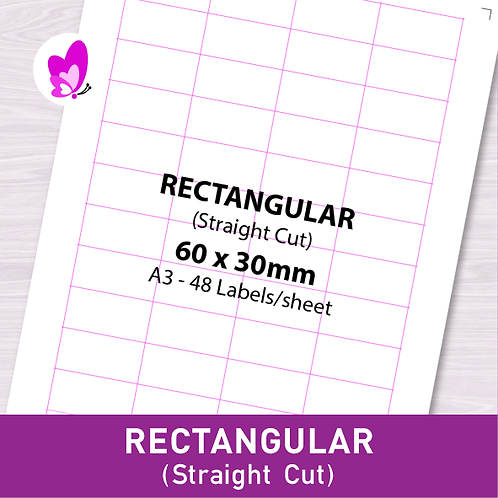 Label Sticker - RSC 60mm x 30mm (48pcs/set A3)
