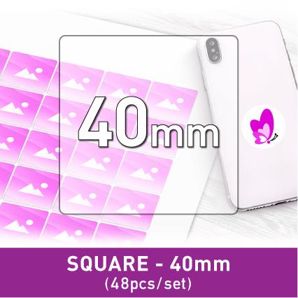 Label Sticker - Square 40mm (48pcs)