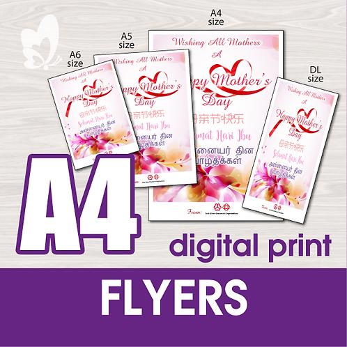 A4 Flyers (Digital Print)