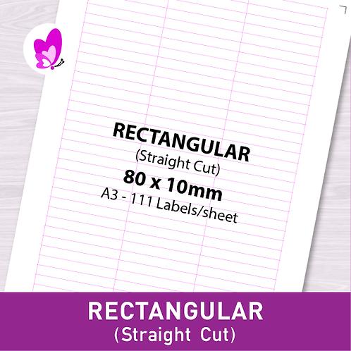 Label Sticker - RSC 80mm x 10mm (111pcs/set A3)