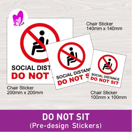CHAIR STICKER - SOCIAL DISTANCING DO NOT SIT