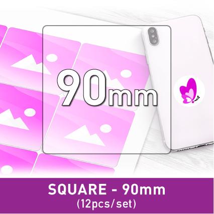 Label Sticker - Square 90mm (12pcs)