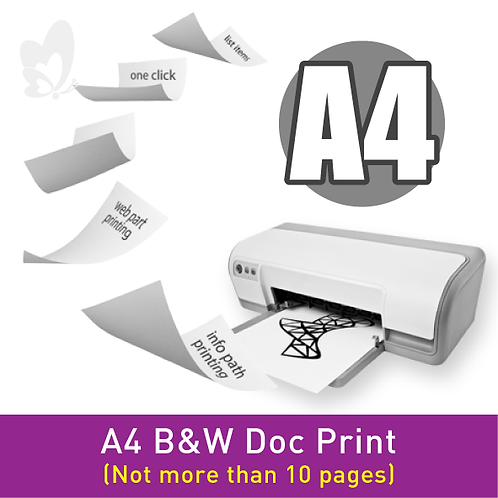 B&W Doc Print - A4