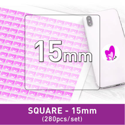 Label Sticker - Square 15mm