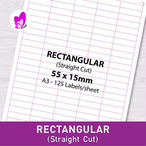 Label Sticker - RSC 55mm x 15mm (125pcs/set A3)
