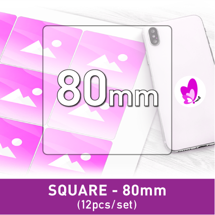 Label Sticker - Square 80mm (12pcs/set A3)