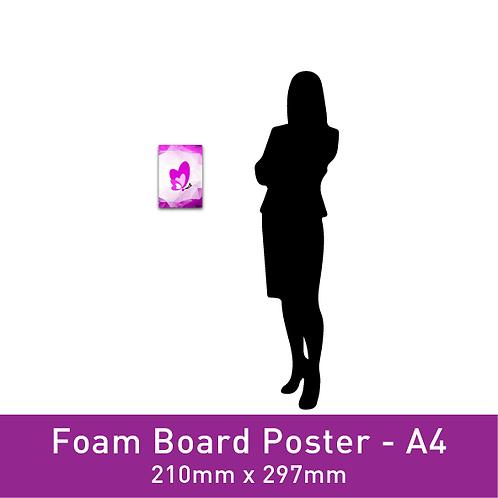 Foam Board Poster - A4