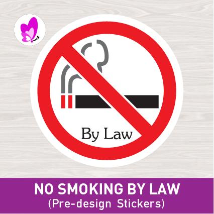 READY STICKER (NO SMOKING BY LAW)