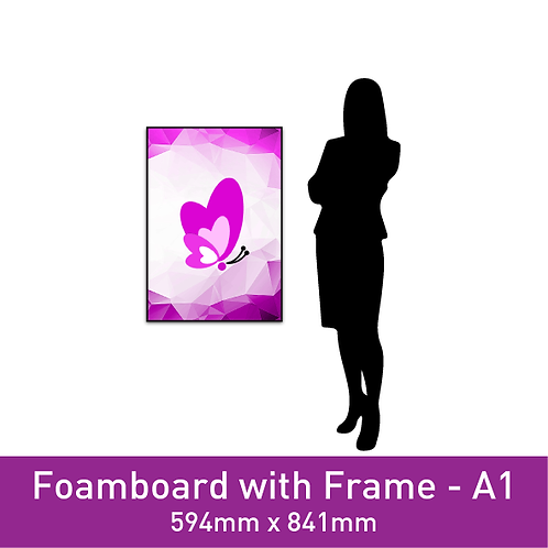 Foam Board with Frame - A1