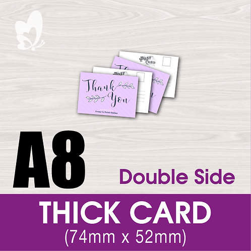 Thick Cards A8 (double-side)