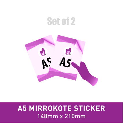 Sticker Poster - A5 Mirrorkote (Gloss)
