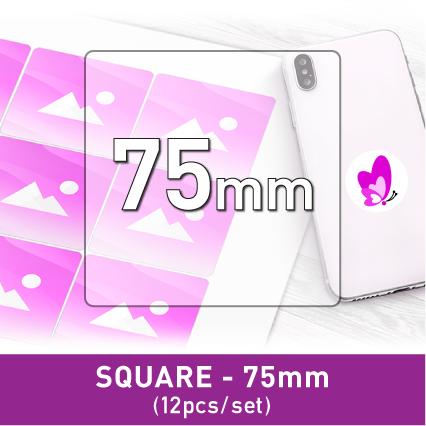 Label Sticker - Square 75mm (12pcs/set A3)