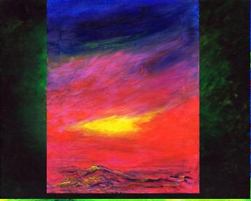 Red Stormy Seas